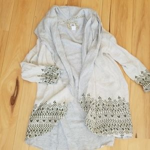 Cute sweatshirt cardigan